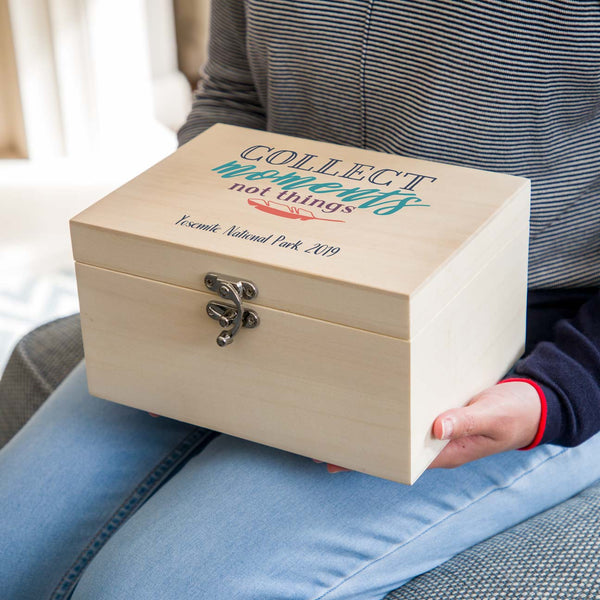 Personalised Travel Keepsake Box