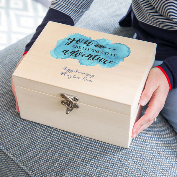 Personalised 5th Anniversary Wood Gift Keepsake Box