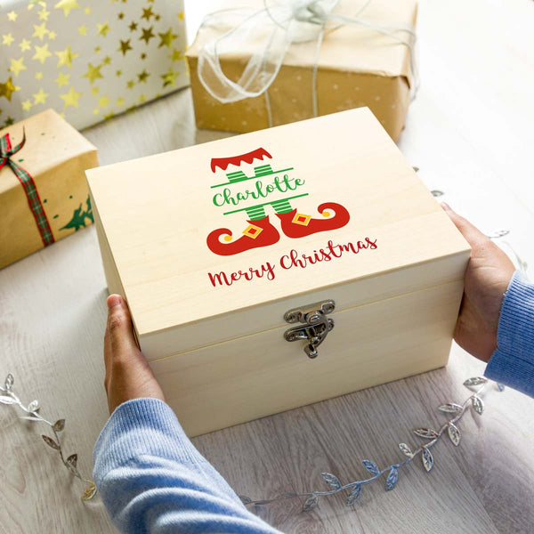 Personalised Elf Christmas Eve Box