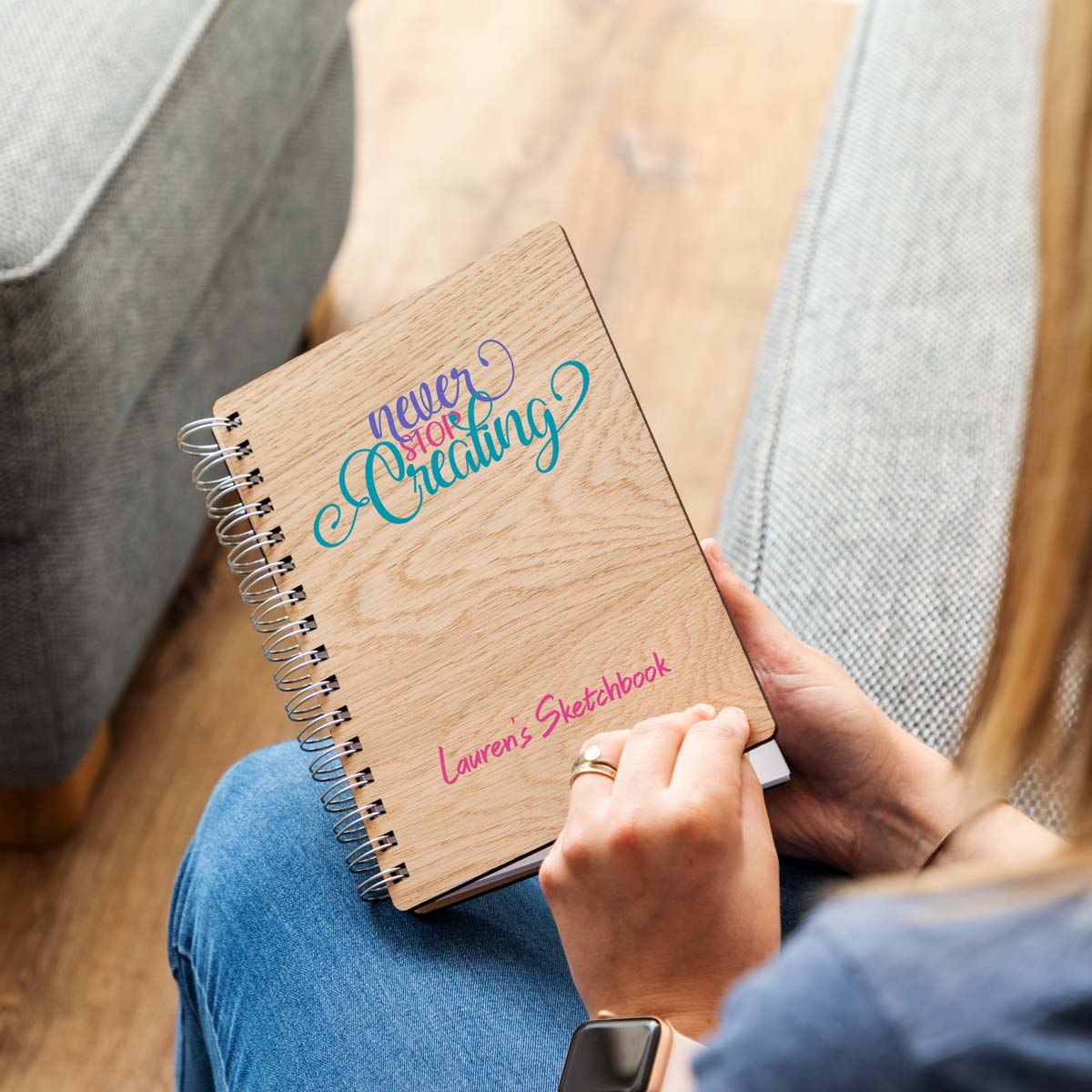 Personalised Never Stop Creating Sketchbook