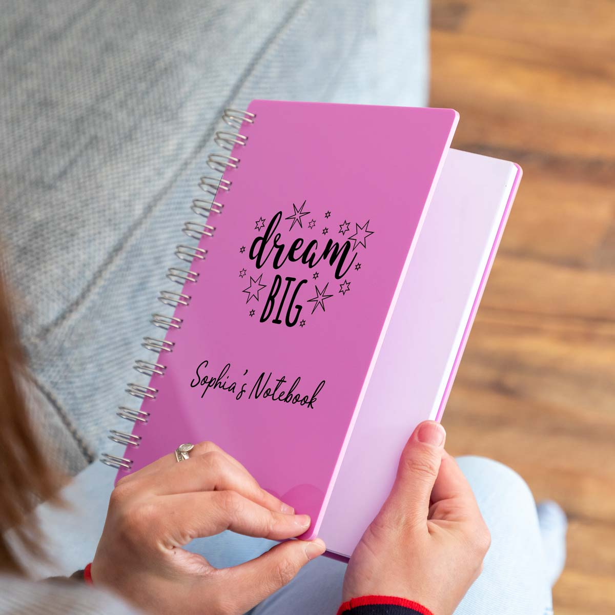Personalised Dream Big Pastel Acrylic Notebook