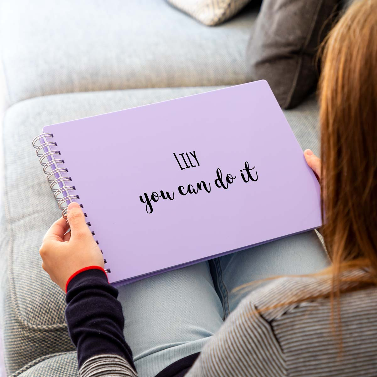 Personalised You Can Do It Acrylic Notebook