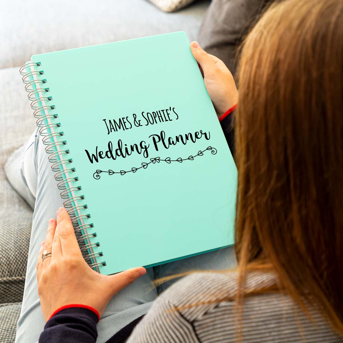 Personalised Wedding Planner Acrylic Notebook