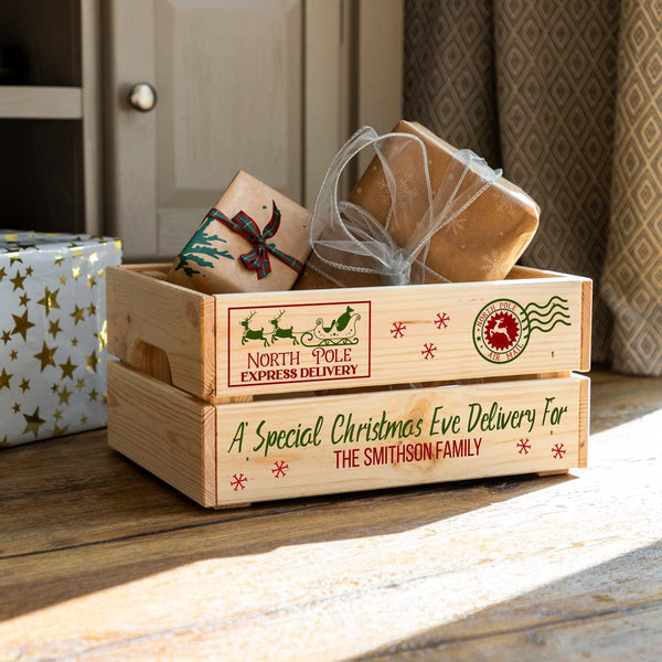 Personalised Special Christmas Eve Delivery Crate