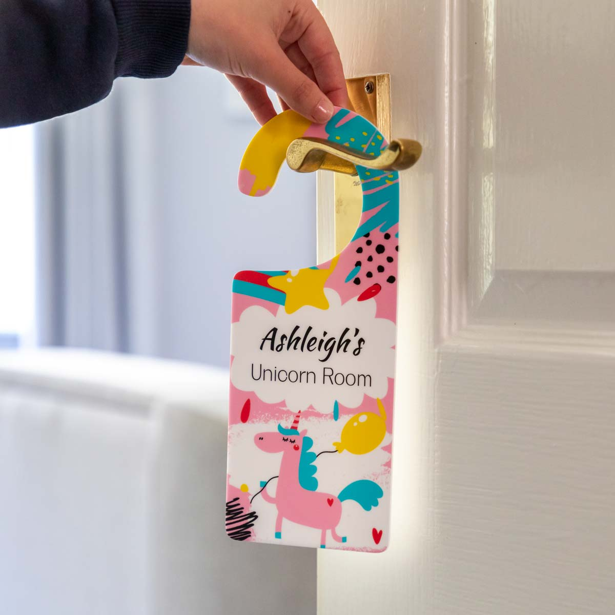 Personalised Unicorn Door Hanger