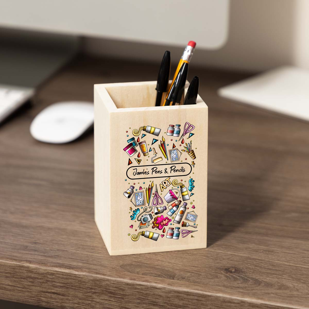 Personalised Arts & Crafts Pencil Pot