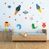 Aliens In Space Wall Decal
