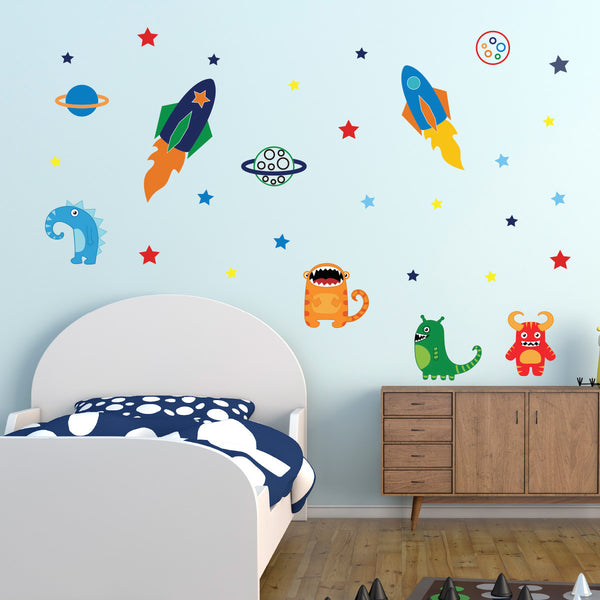 Aliens In Space Wall Sticker