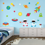 Astronauts In Space Wall Decals