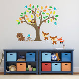 Autumn Tree With Animals Wall Decal