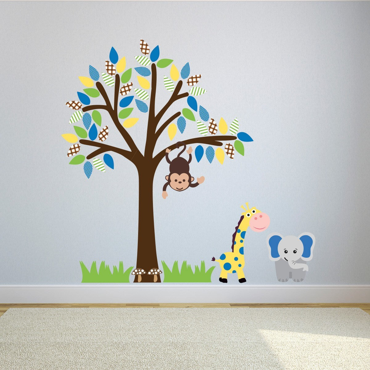 Boys Jungle Tree Wall Sticker