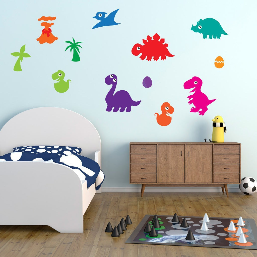 Bright Dinosaur Wall Stickers