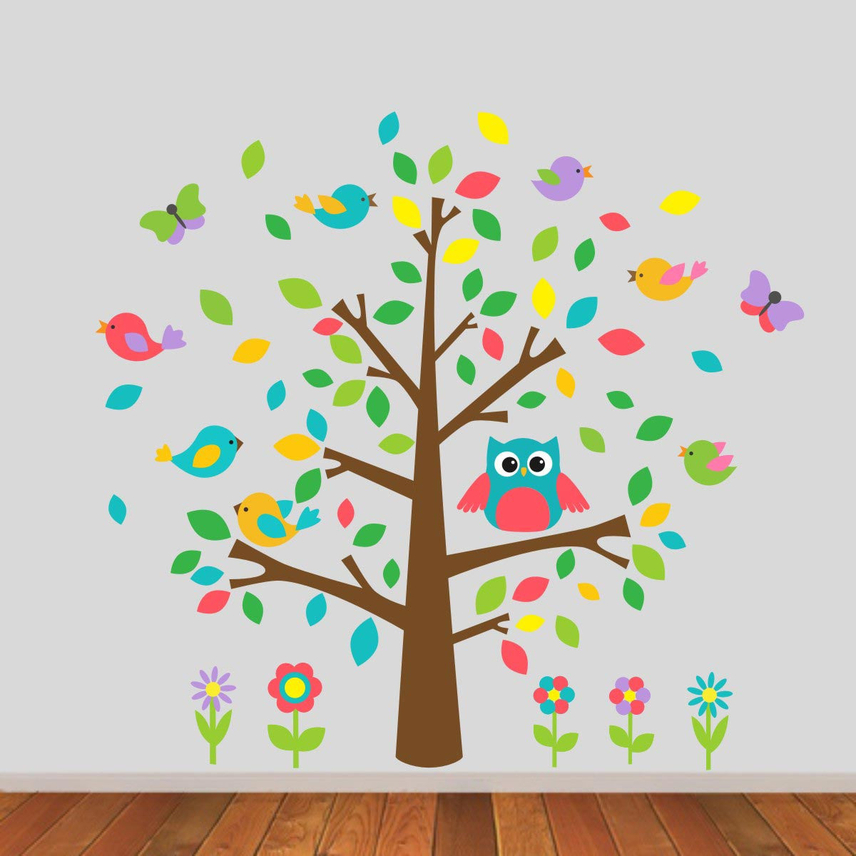 Childrens Tree With Owls Wall Sticker