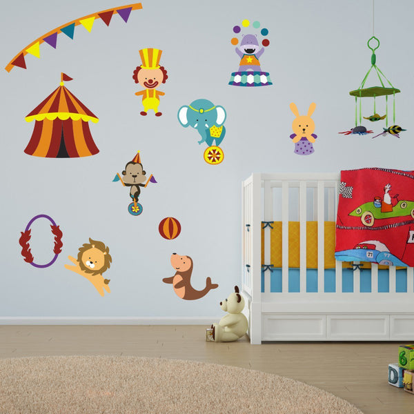 Childrens Circus Wall Stickers