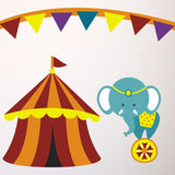 Childrens Circus Wall Transfers