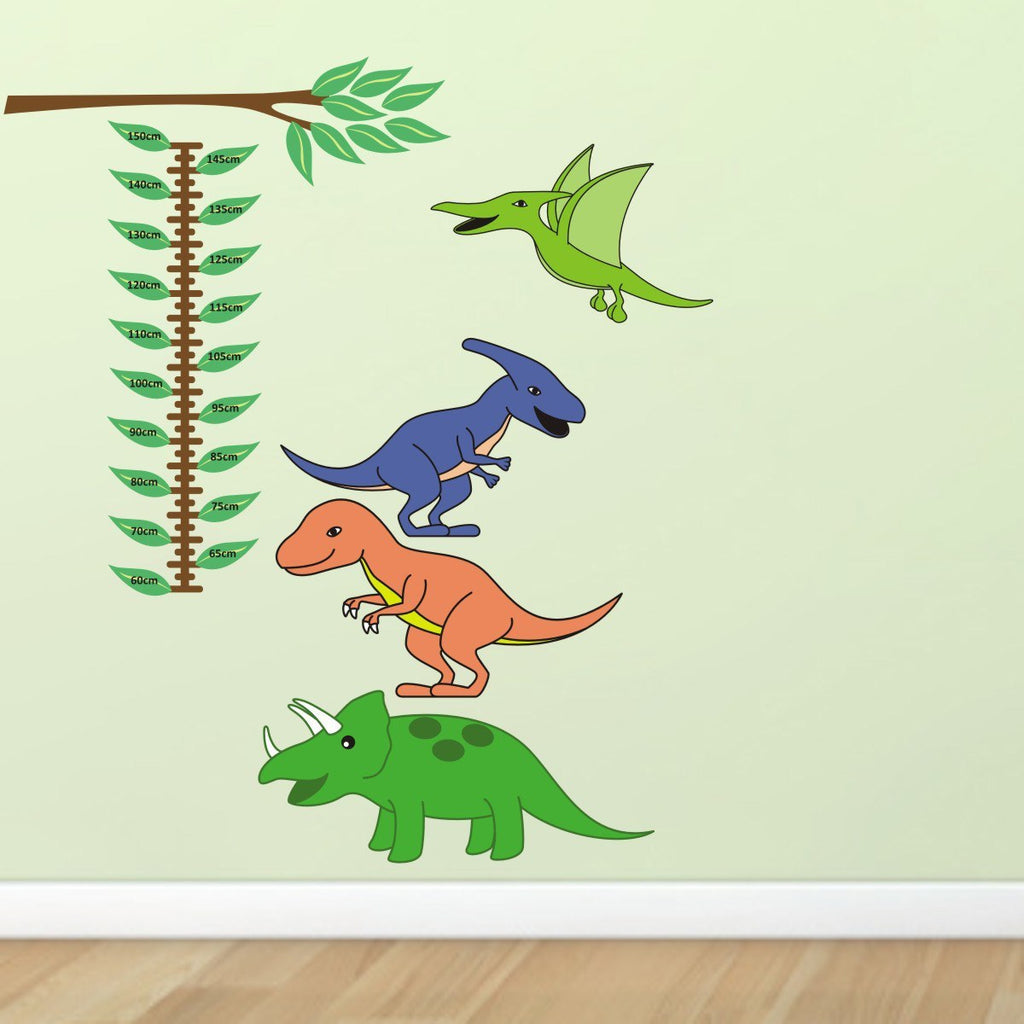 Dinosaur Growth Chart Wall Sticker