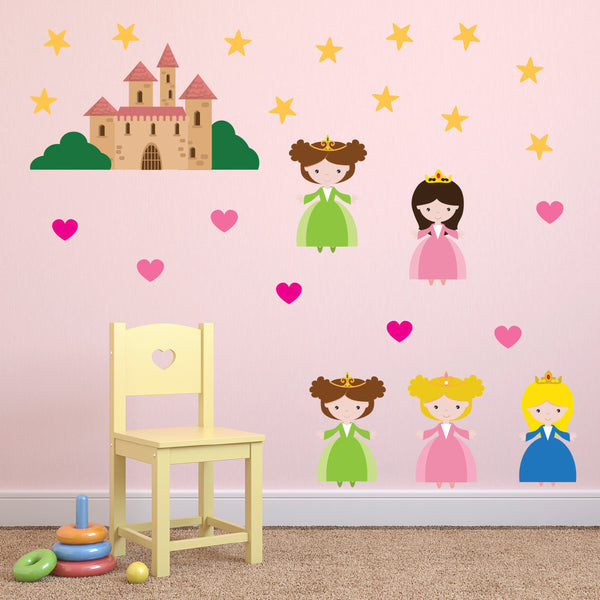 Fairytale Princess Wall Stickers Pack