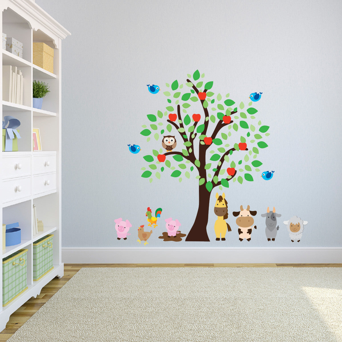 Farm Animals and Tree Wall Art