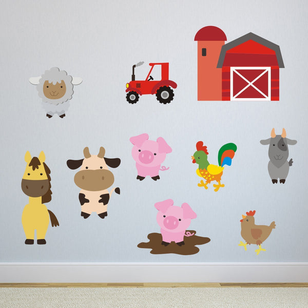 Farmyard Animal Wall Stickers