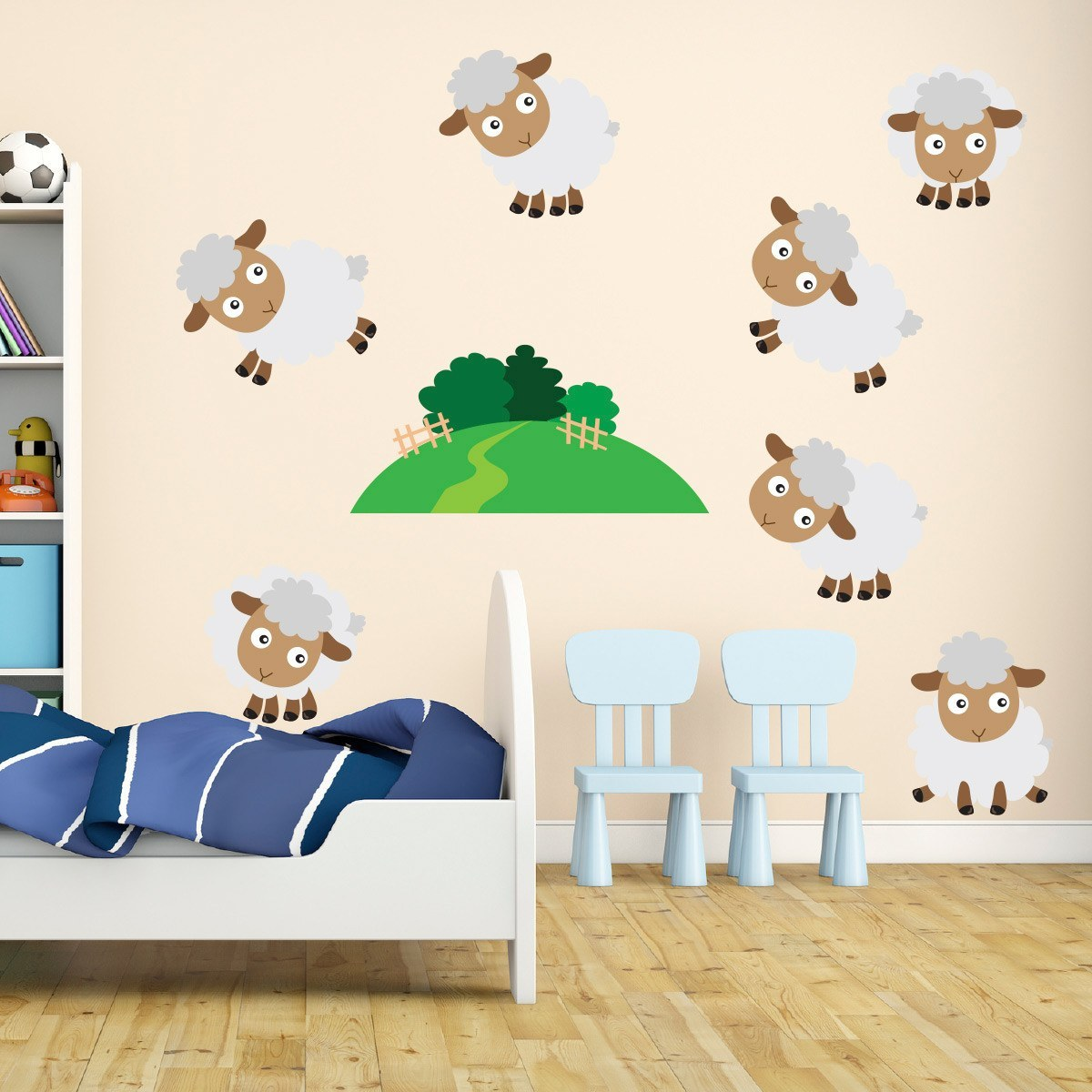 Farmyard Sheep Wall Stickers