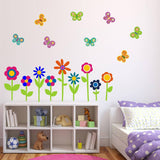 Flower and Butterfly Wall Decals