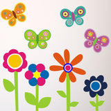 Flower and Butterfly Wall Transfers