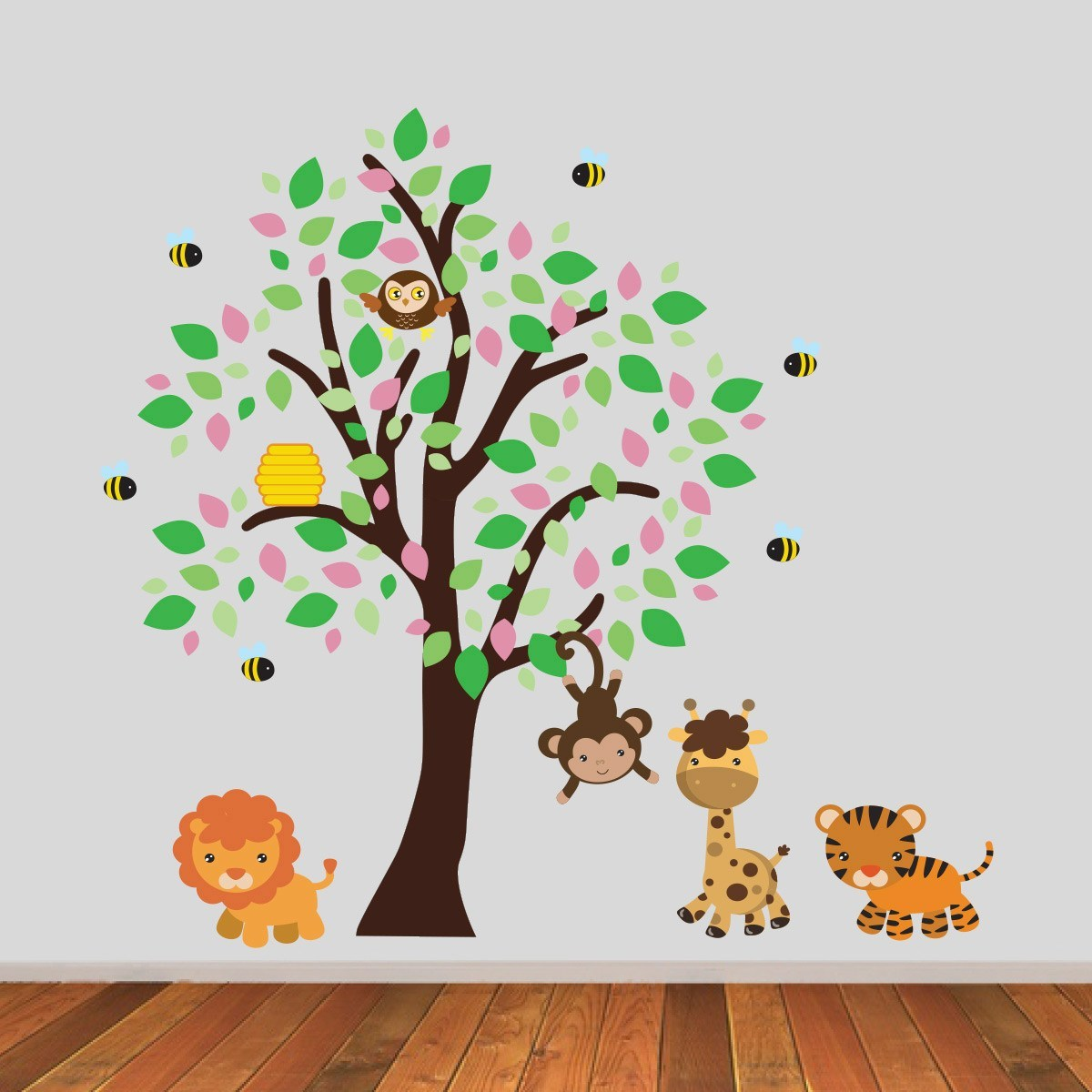 Girls Jungle Tree Wall Sticker