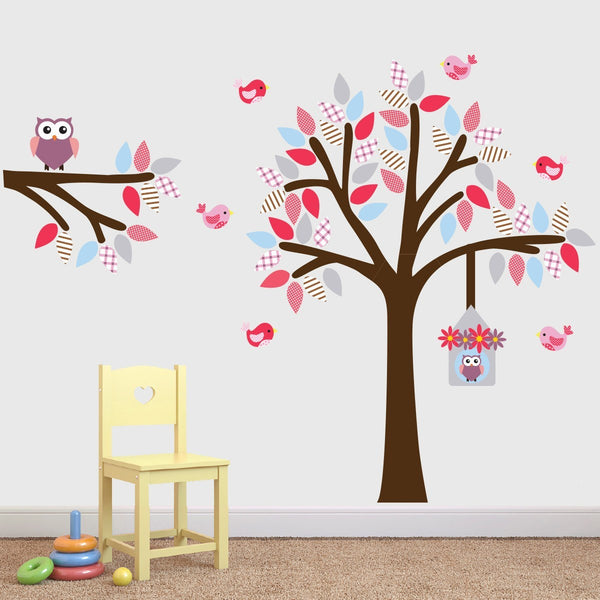 Girls Tree and Branch Wall Sticker Set