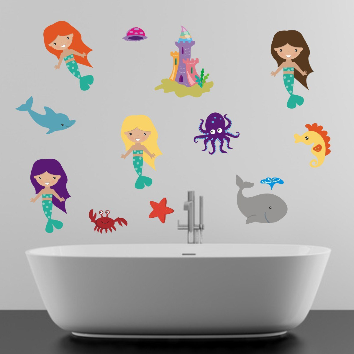 Happy Mermaid Wall Stickers