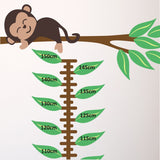 Jungle Animals Height Chart Wall Decal