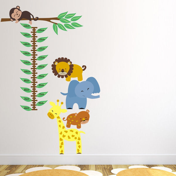 Jungle Animals Height Chart Wall Sticker