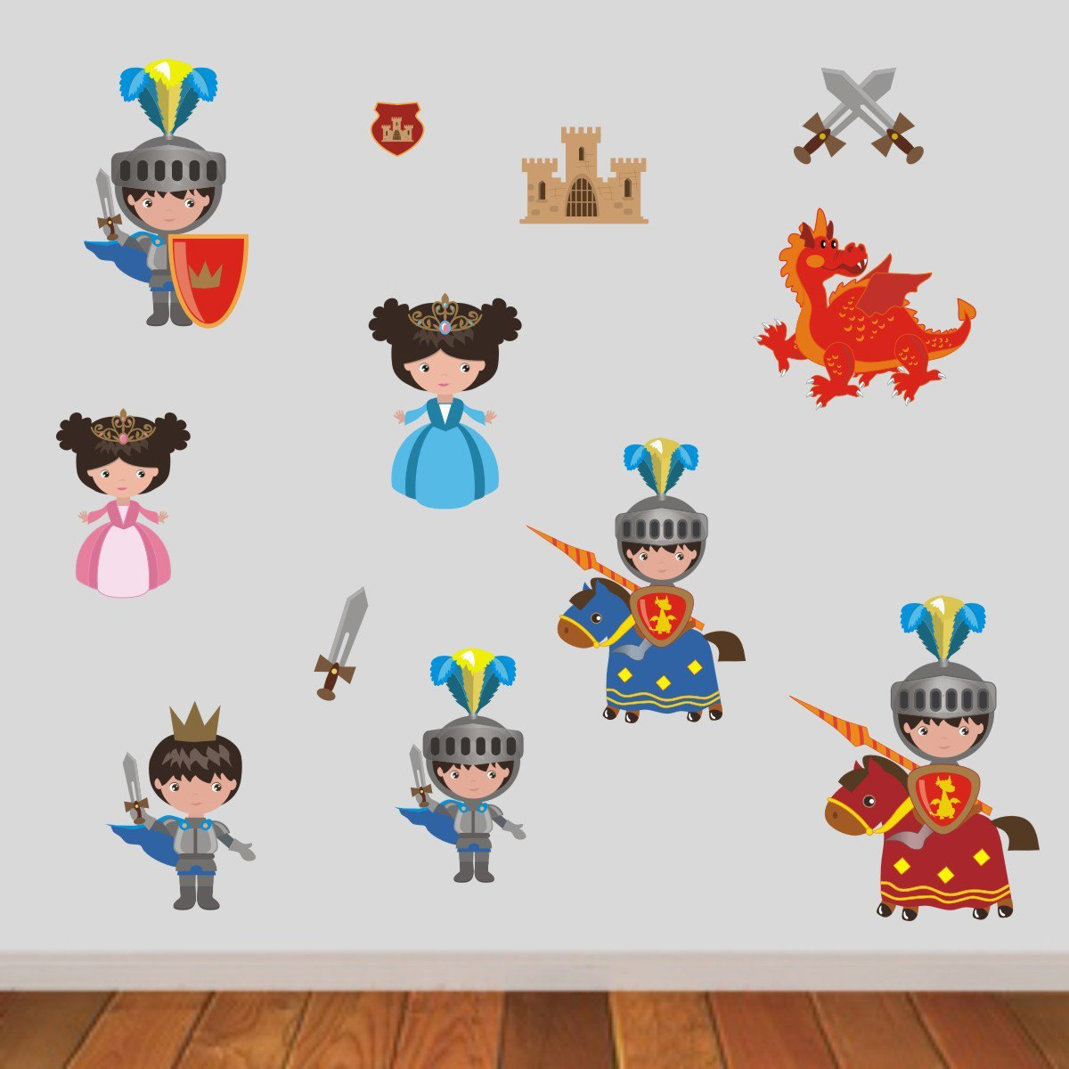 Knights, Princesses and Dragon Wall Sticker