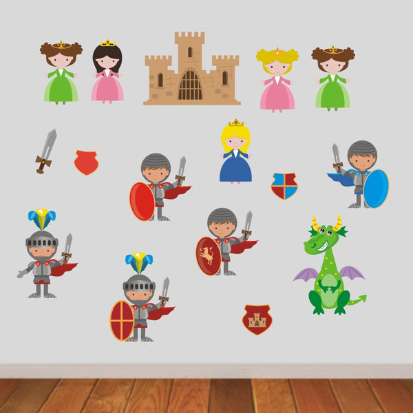 Knights and Princesses Wall Stickers