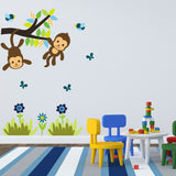 Monkeys On Branch Wall Art