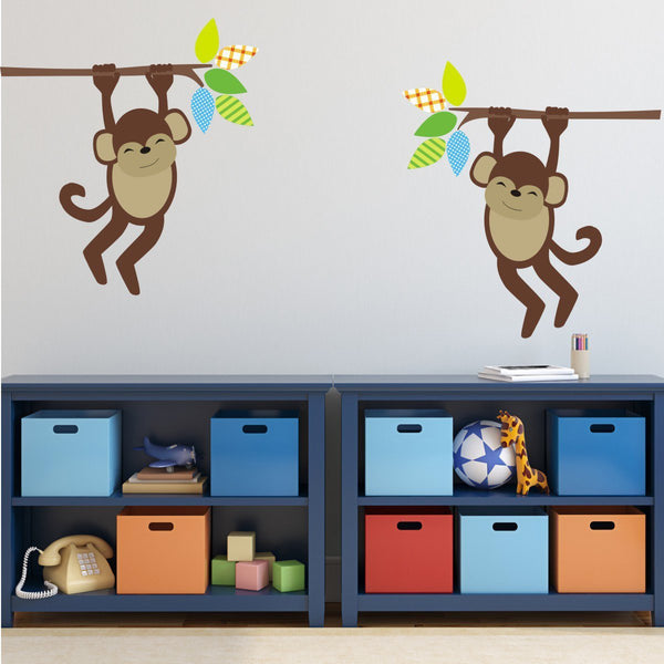 Monkeys On Branches Wall Stickers