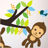 Monkeys On Branch Wall Transfer