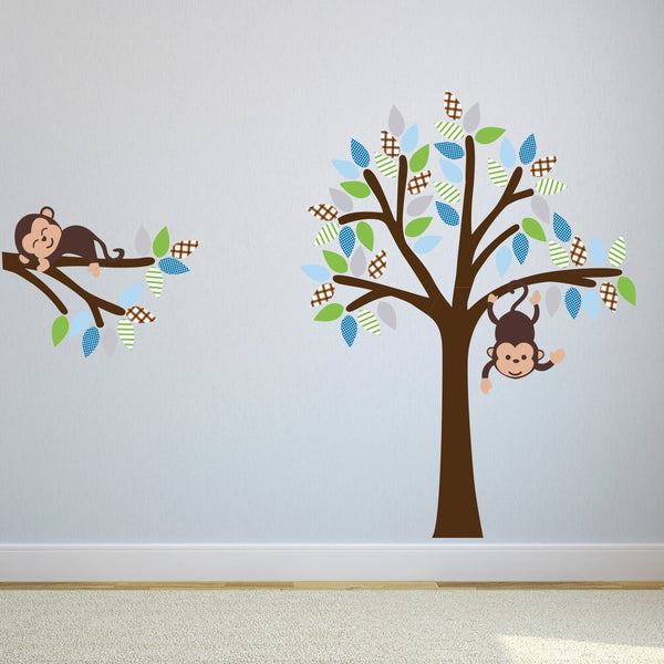 Monkey Tree and Branch Wall Sticker