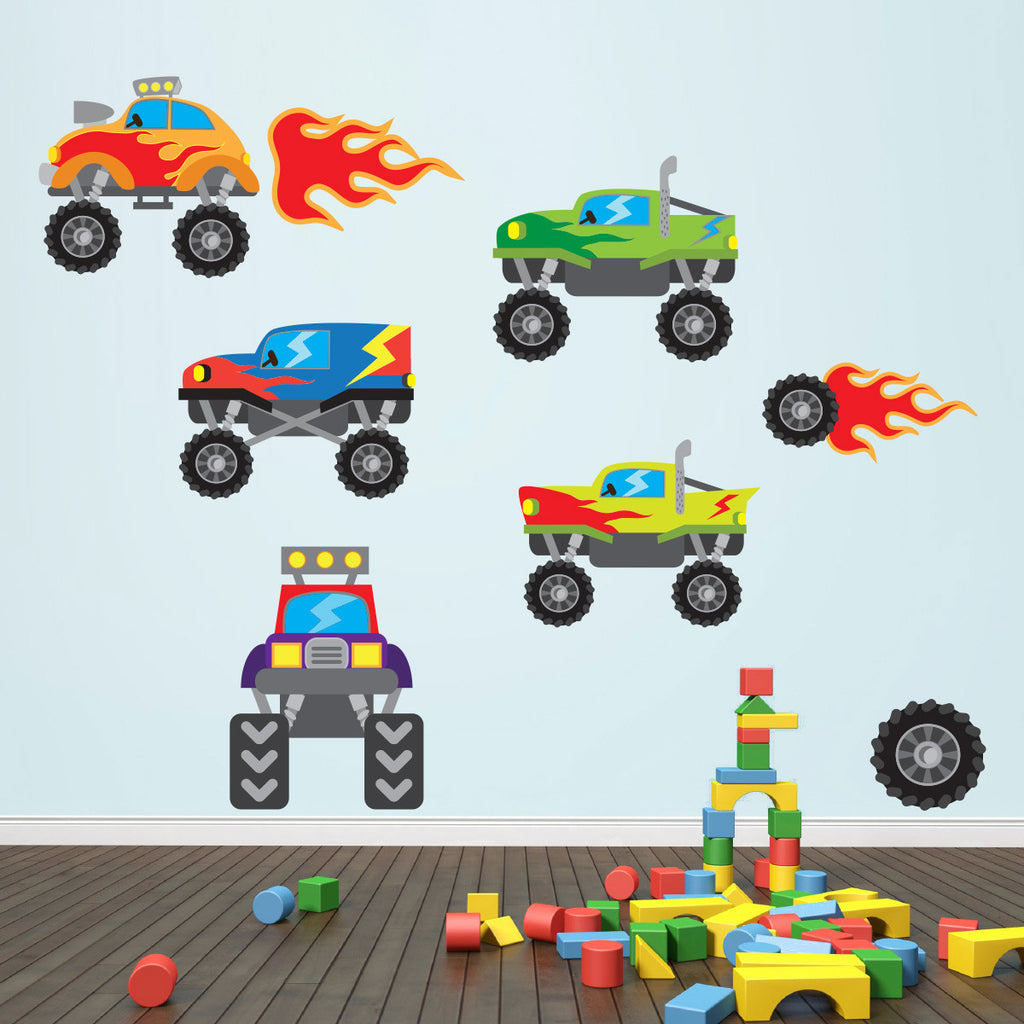 Monster Truck Wall Stickers
