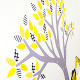 Pastel Tree With Jungle Animals Wall Decal