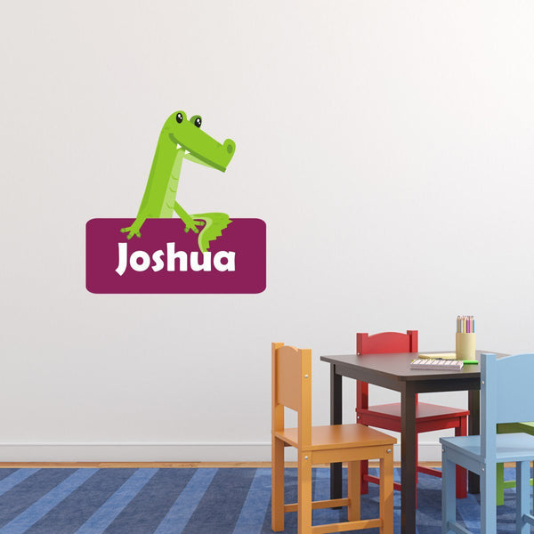 Personalised Alligator Wall Sticker