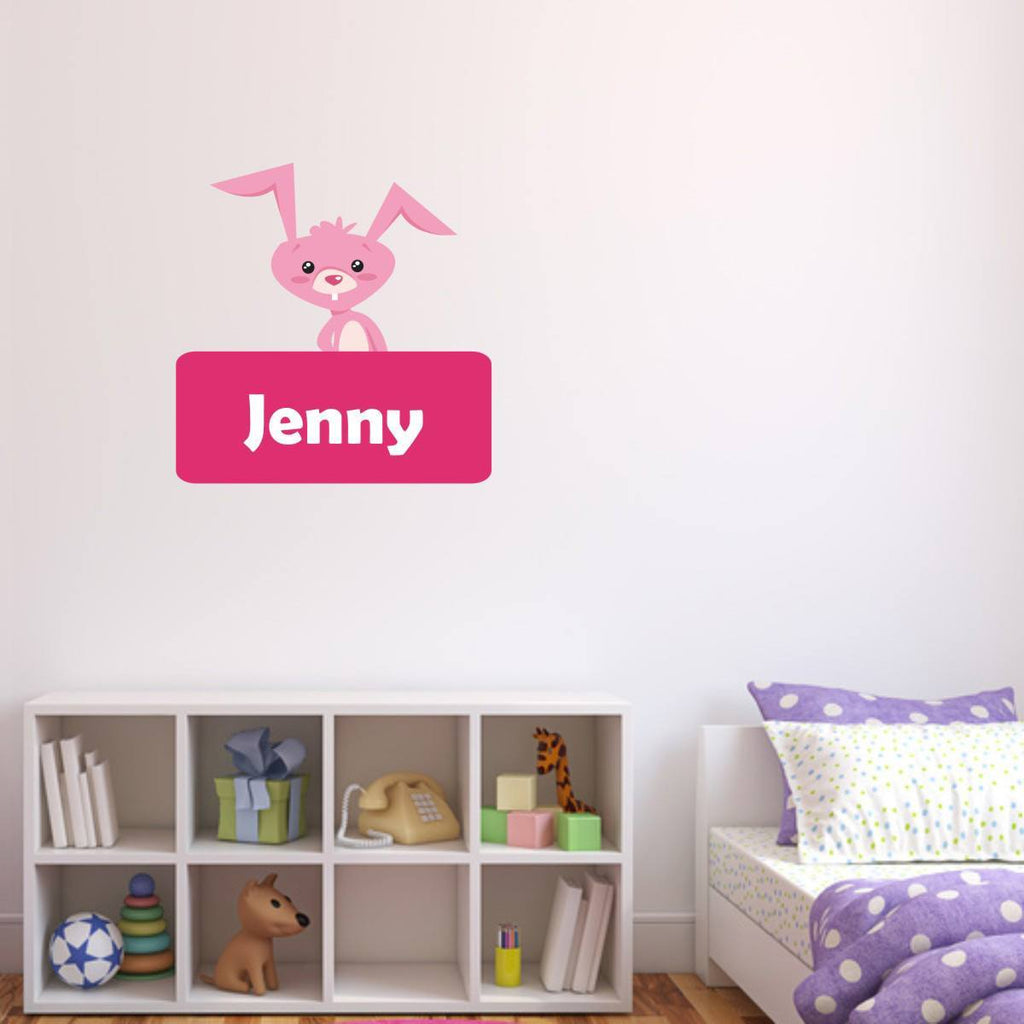 Personalised Bunny Rabbit Wall Sticker