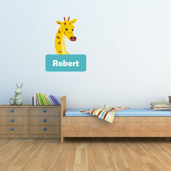 Personalised Giraffe Wall Sticker