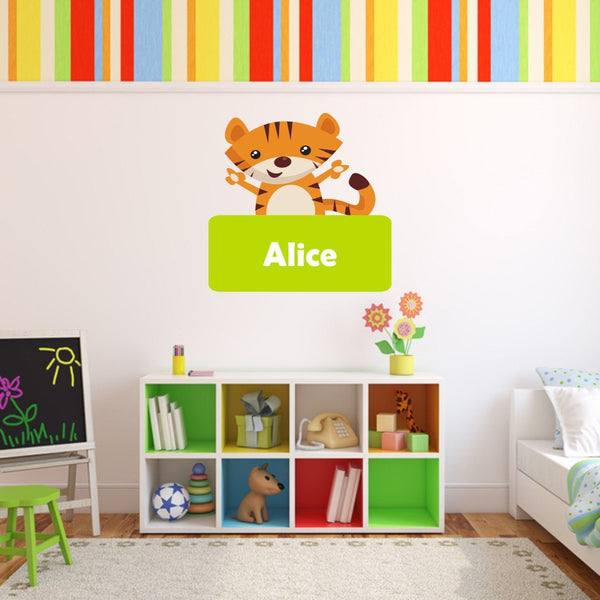 Personalised Jungle Tiger Wall Sticker