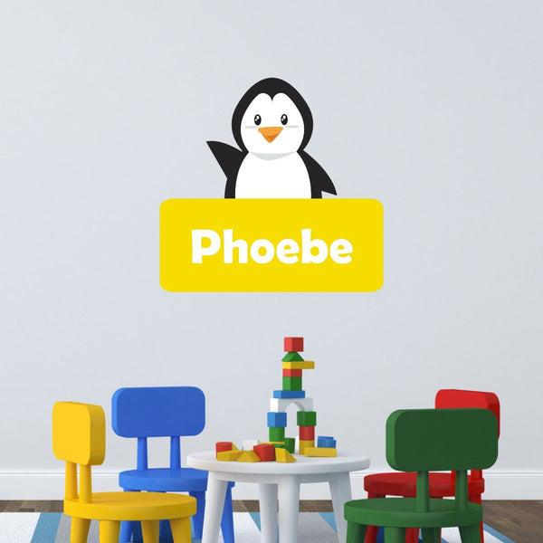 Personalised Penguin Wall Sticker