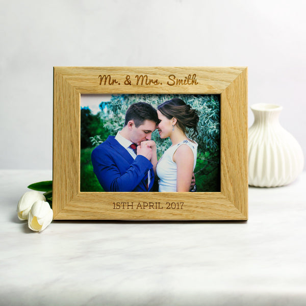 Personalised Wedding or Anniversary Photo Frame