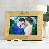 Personalised Wedding Photo Frame Oak