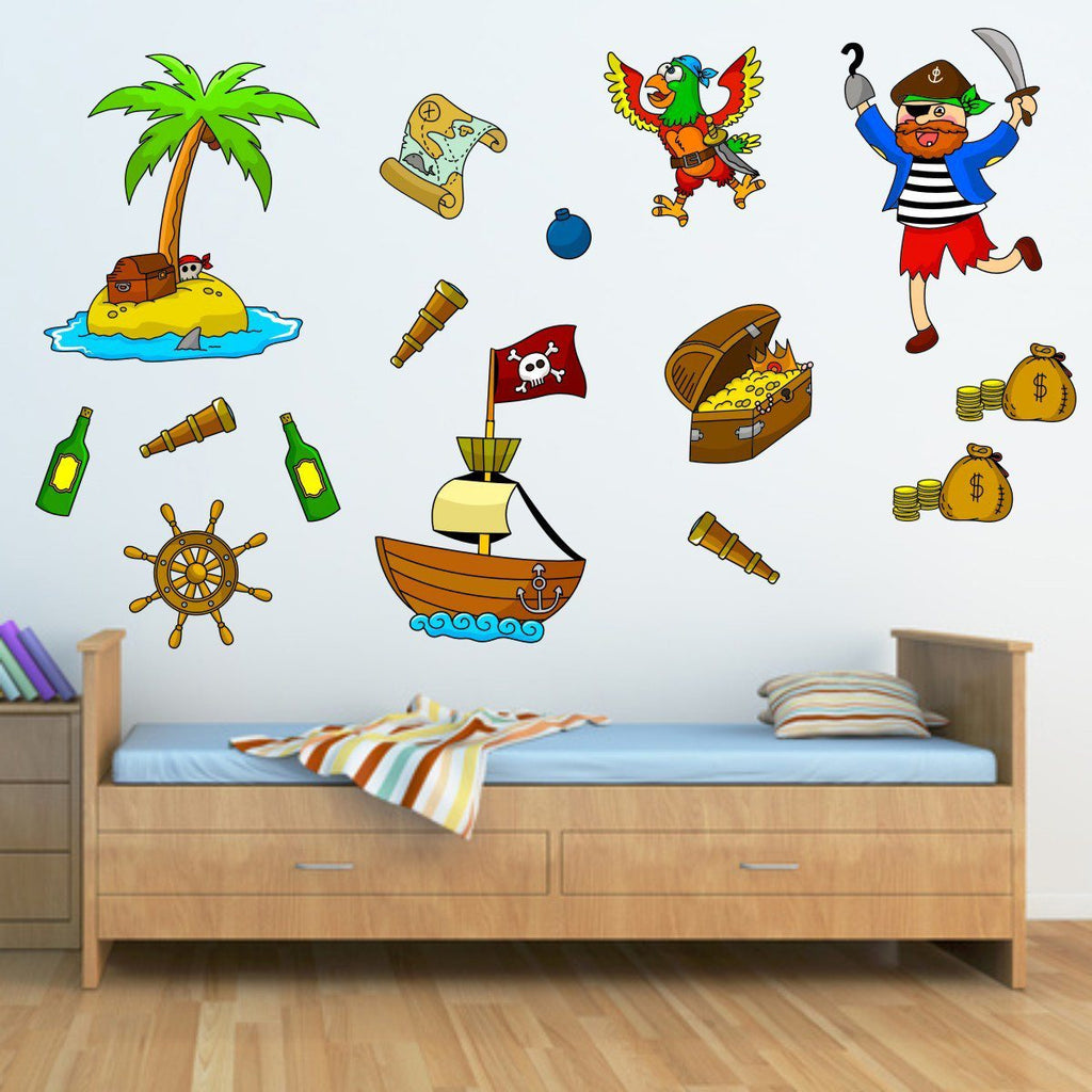Pirate Wall Stickers Pack Mirrorin