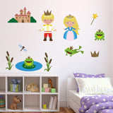 Prince, Princess and Frogs Wall Decals