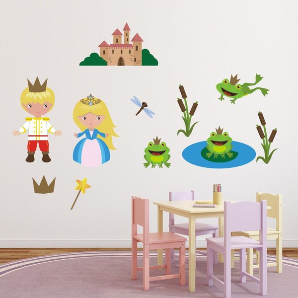 Prince, Princess and Frogs Wall Sticker