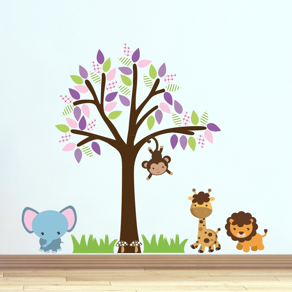 Purple Jungle Tree Wall Sticker